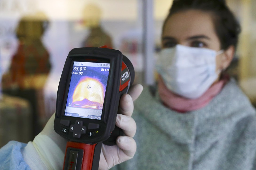Russia, thermal imaging, COVID-19