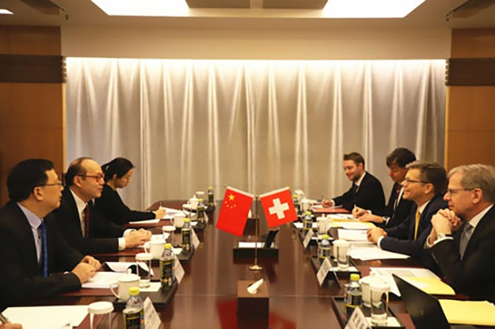 Chinese, Swis, foreign ministry delegations
