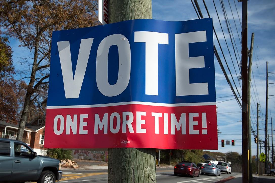 Georgia, runoff, signs