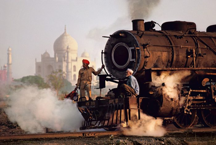 India, train, palace