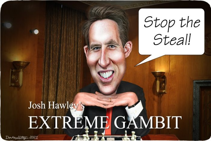 Josh Hawley, Donald Trump, Stop the Steal