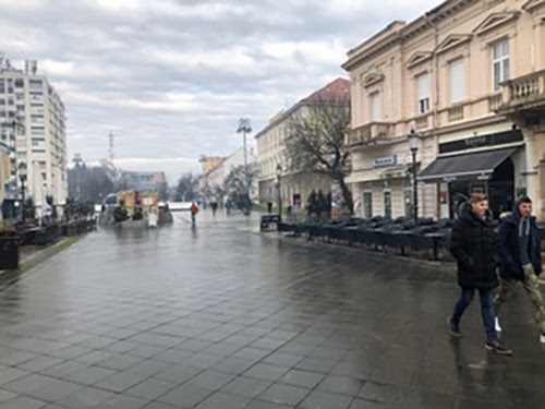 Slavonski Brod, street, Croatia