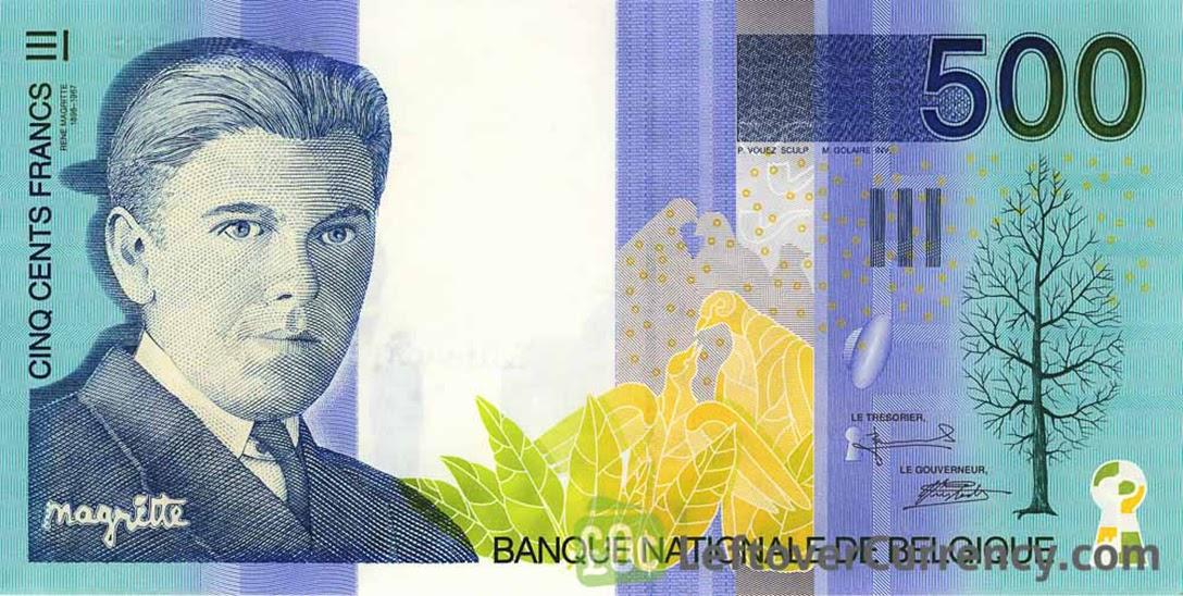 Belgian, 500 Franc banknote