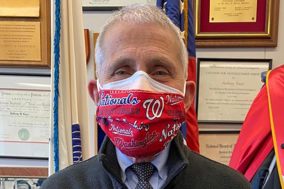Anthony Fauci, double mask