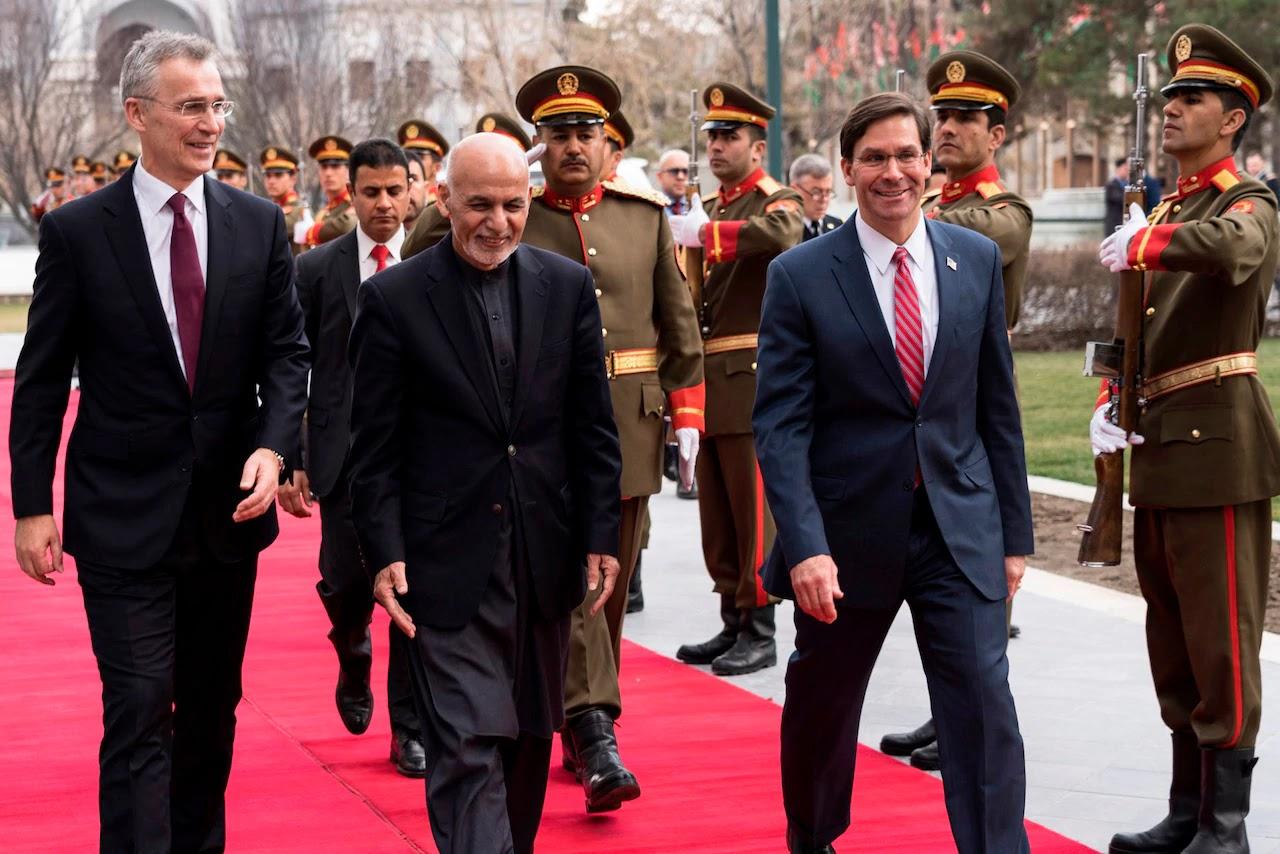 Jens Stoltenberg, Mohammad Ashraf Ghani, Mark Esper