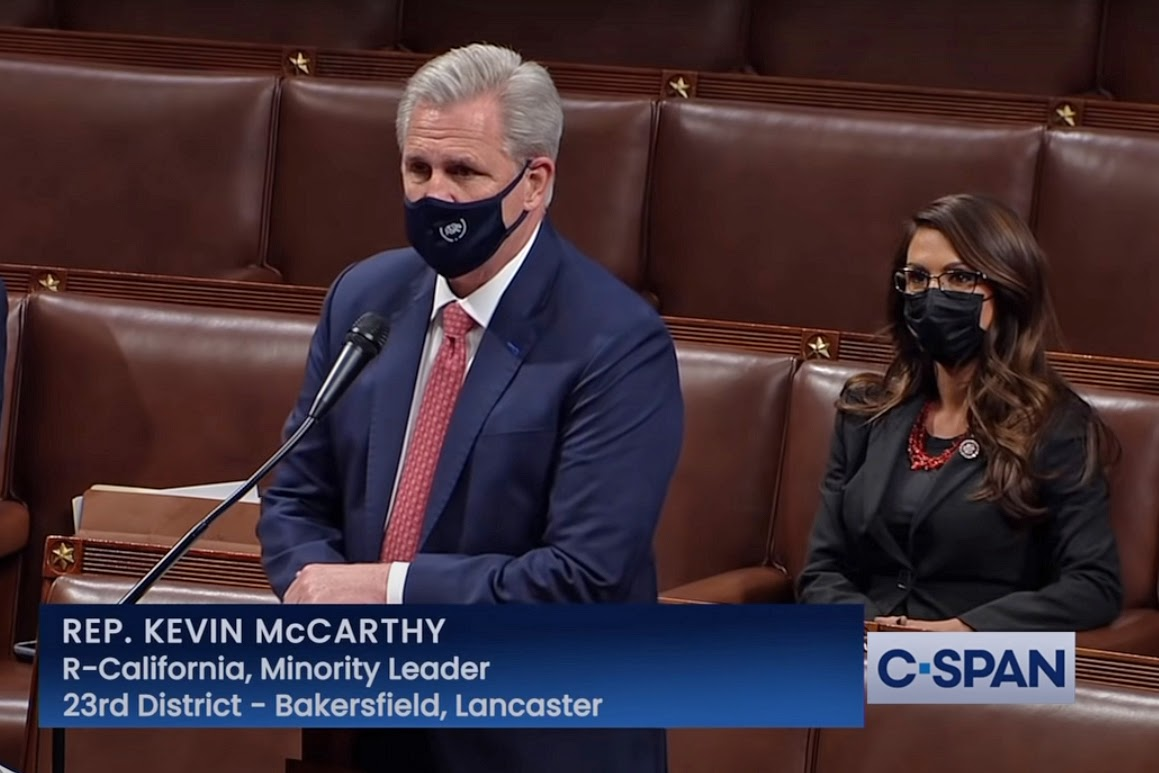 Kevin McCarthy, Lauren Boebert, impeachment