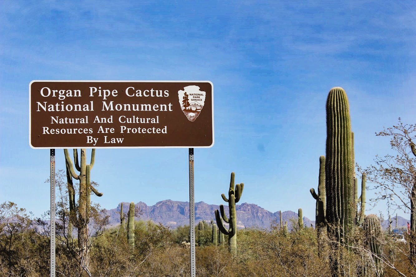 Organ Pipe Cactus National Monument Sign