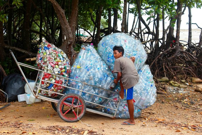 Coca-Cola, plastic waste, paper bottle trial, recycling