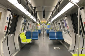 Empty Bart Train, San Francisco