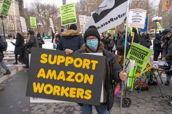 Bessemer, Amazon, union, protest