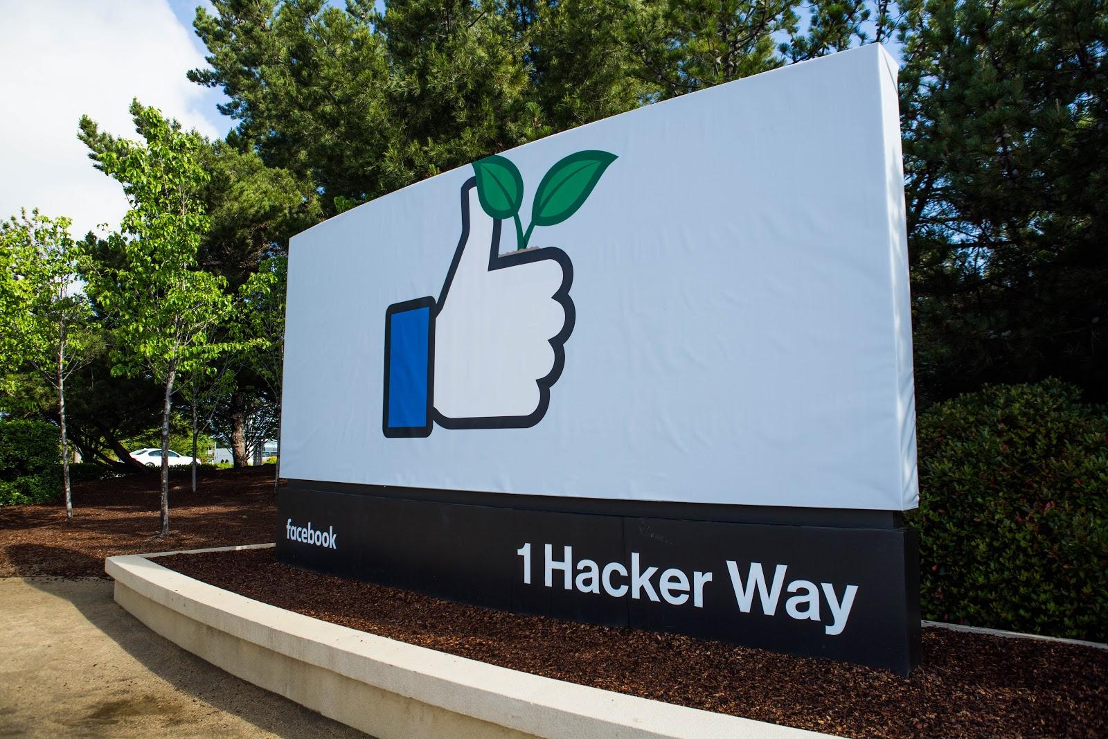 Facebook Headquarters at 1 Hacker Way in Menlo Park, California