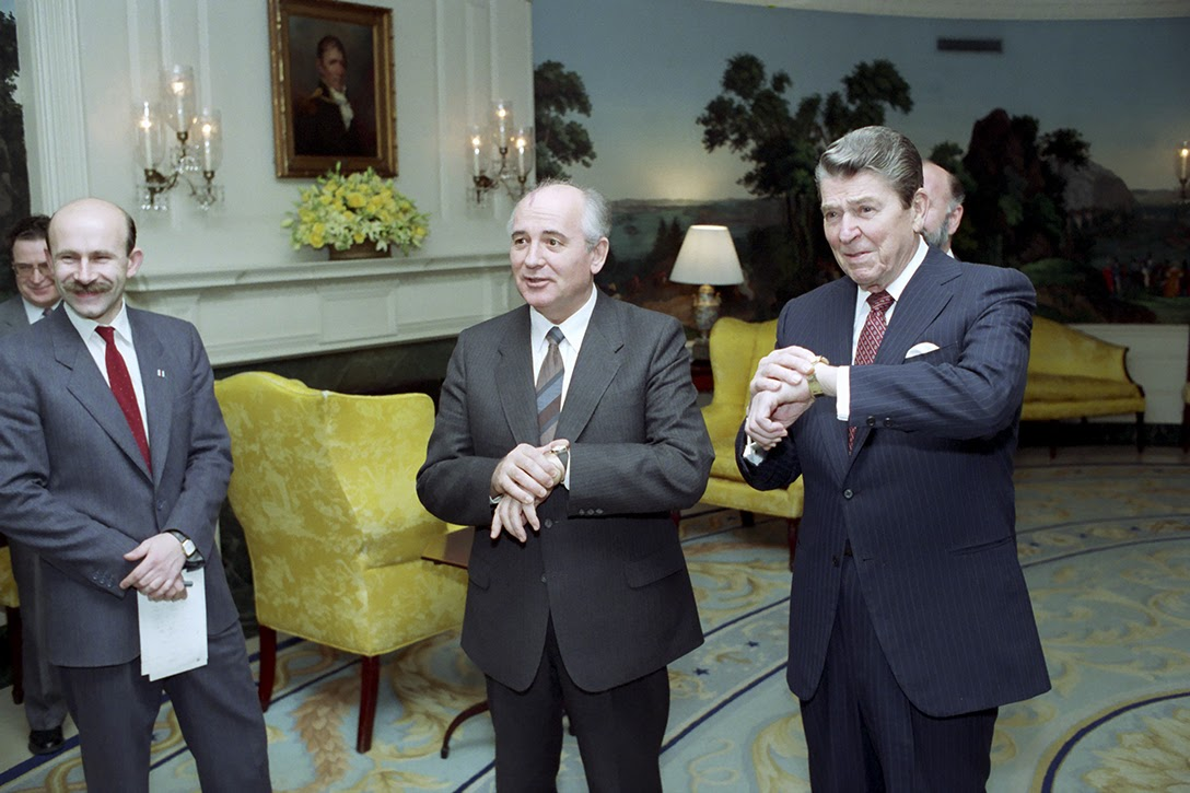 Gorbachev, Reagan, watches