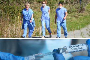 Seattle COVID-19 vaccination vile.