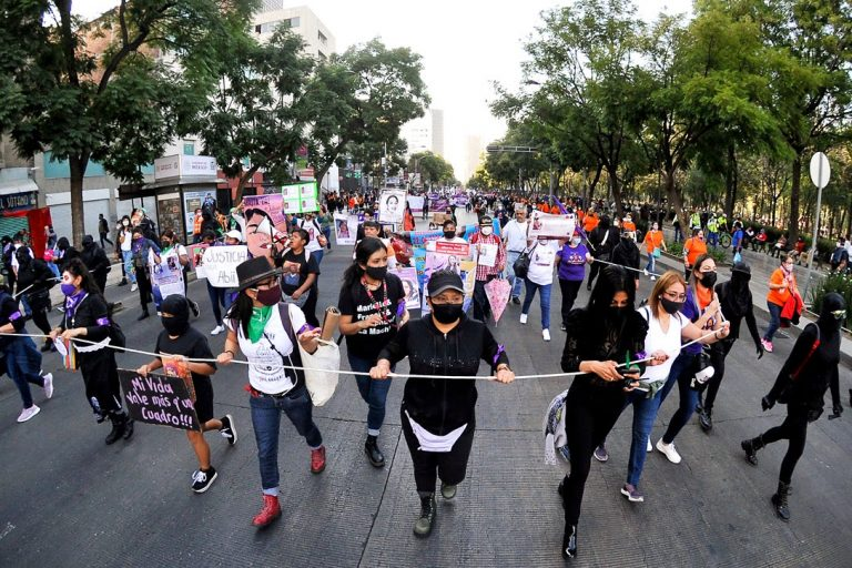 Women Protest in Mexico City, Mexico