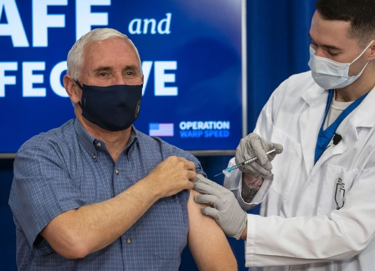VP Pence Receives Pfizer Covid-19 Vaccination