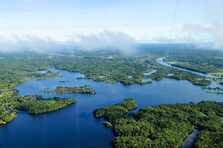 Aerial view, Amazon Rainforest, Brazil