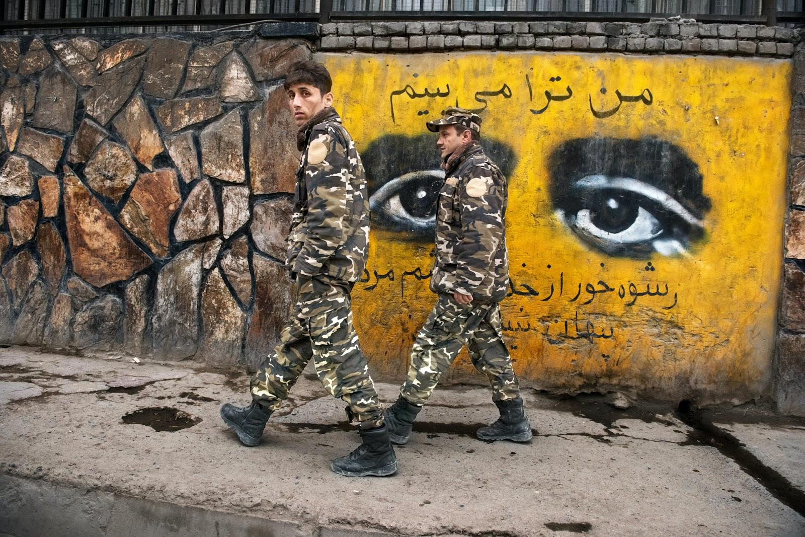 Afghan soldiers in Kabul, Afghanistan