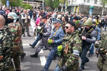 Armed pro-Russian separatists, Donetsk