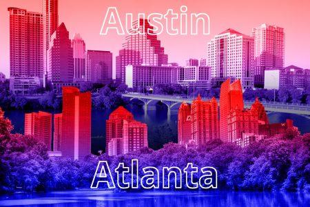 Austin, Texas, Atlanta, Georgia