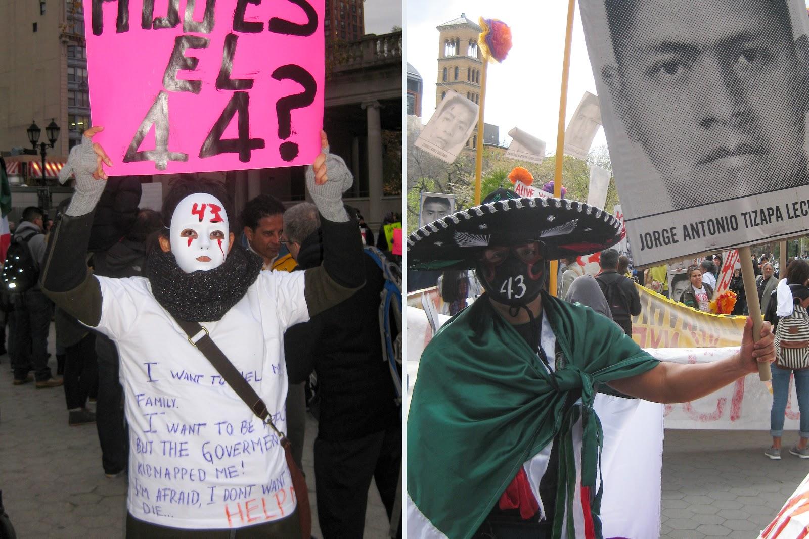 Ayotzinapa case, Protest