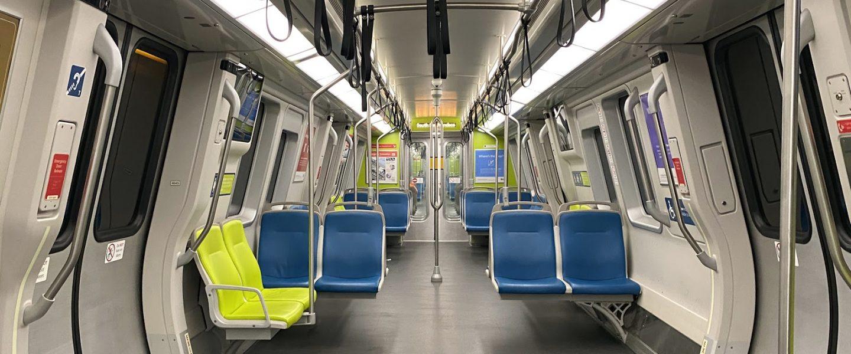 Empty Bart Train, San Francisco