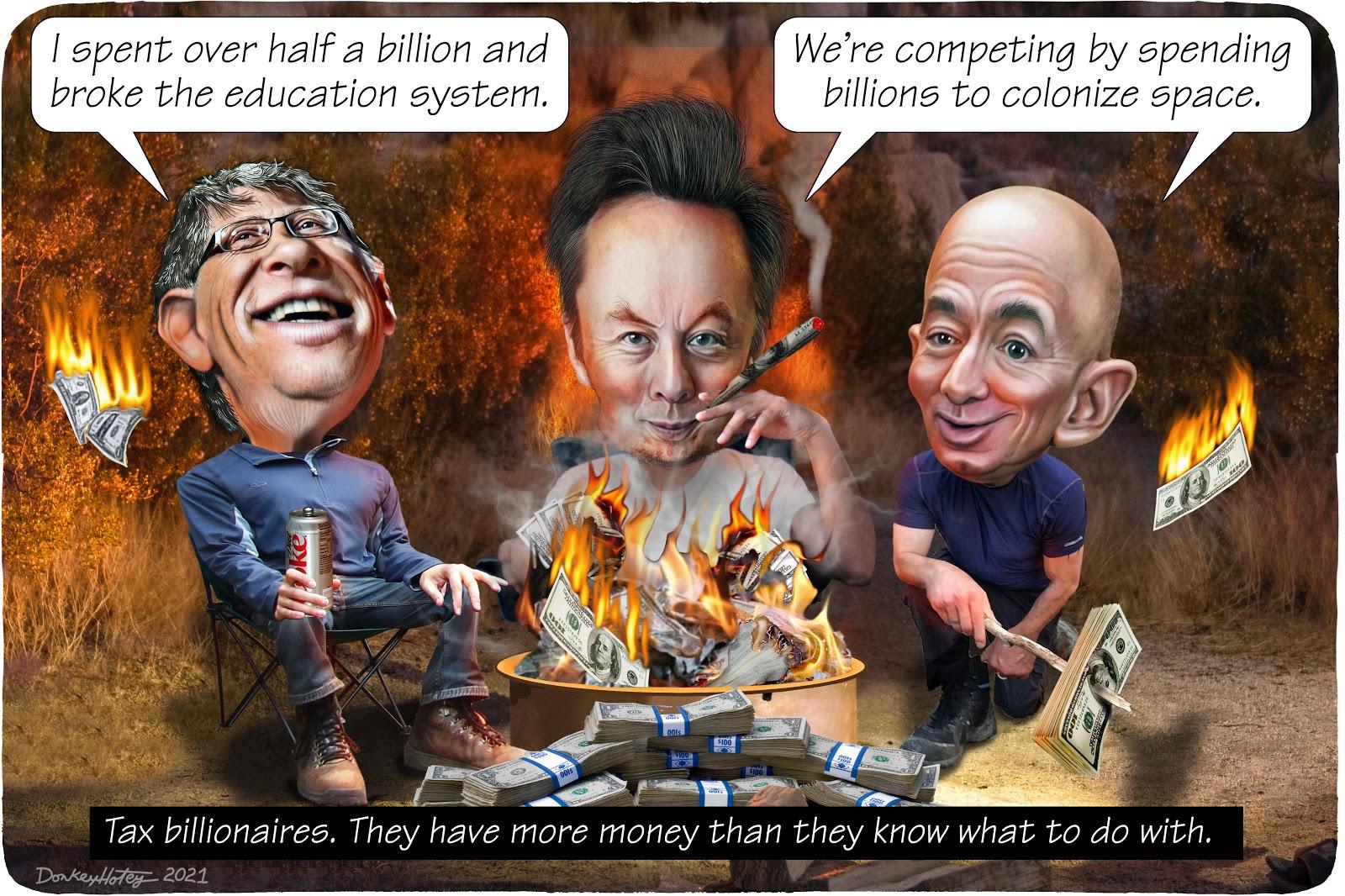 Bill Gates, Elon Musk, Jeff Bezos