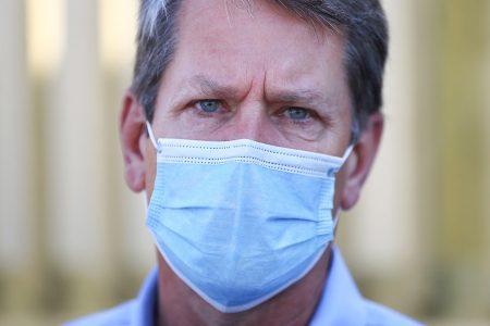 Brian Kemp, mask, Albany, GA
