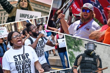 divided America, protests