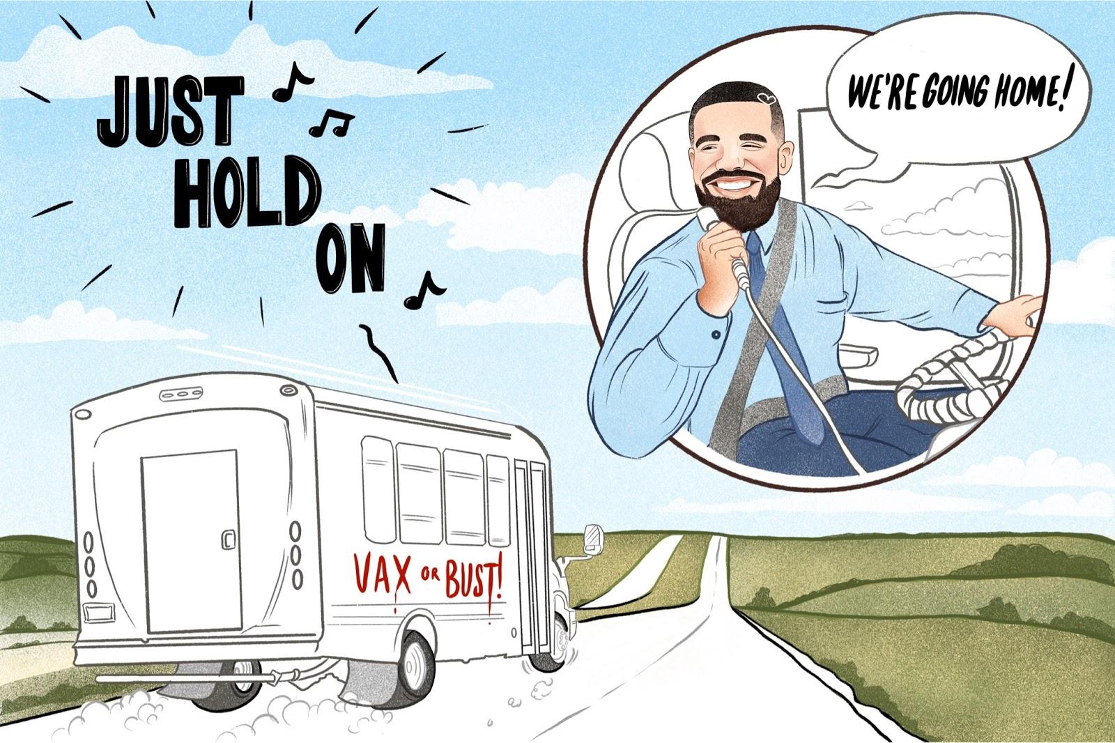 Drake's COVID Shuttle Bus