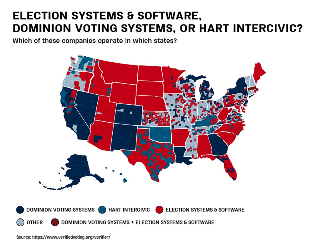 Election Systems & Software, states