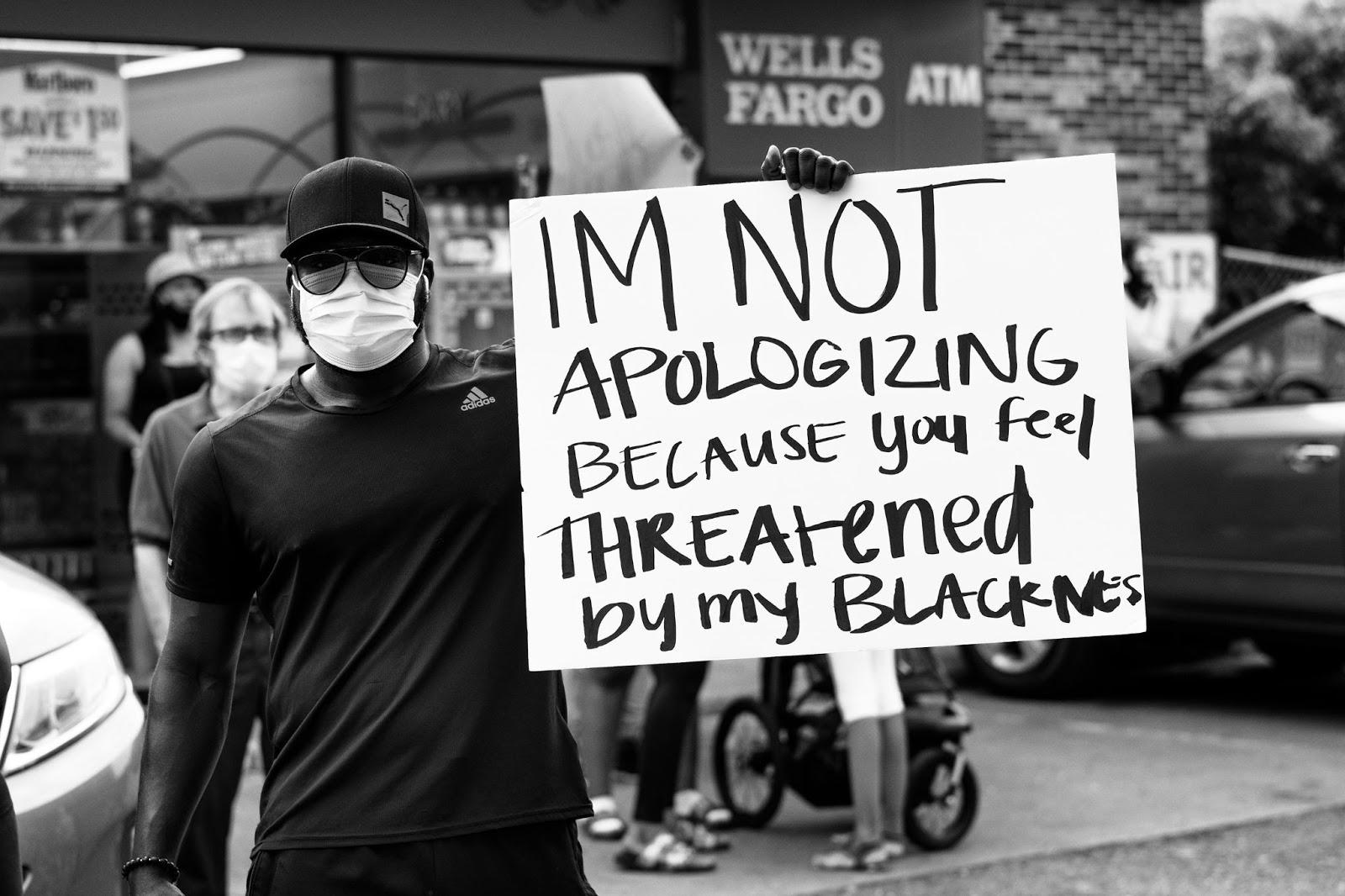 George Floyd protest, Minneapolis, sign