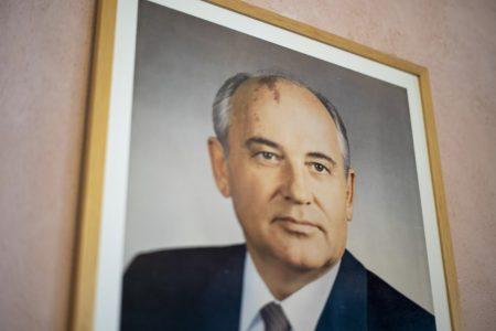 Gorbachev, wall, frame