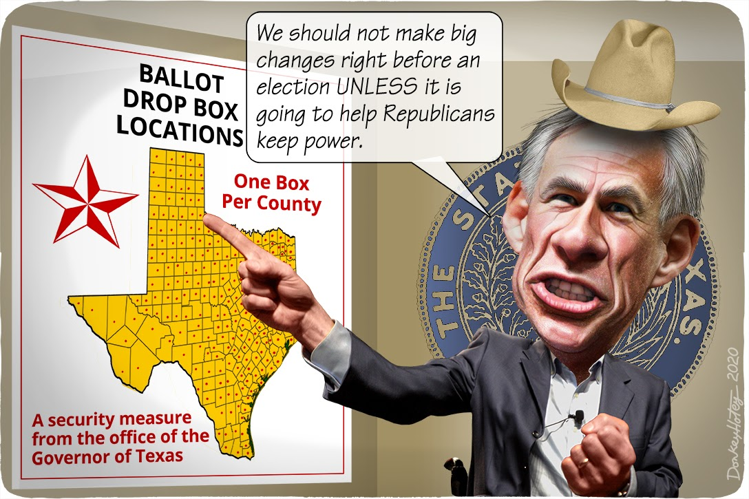 Greg Abbott, Texas, COVID-19, drop boxes