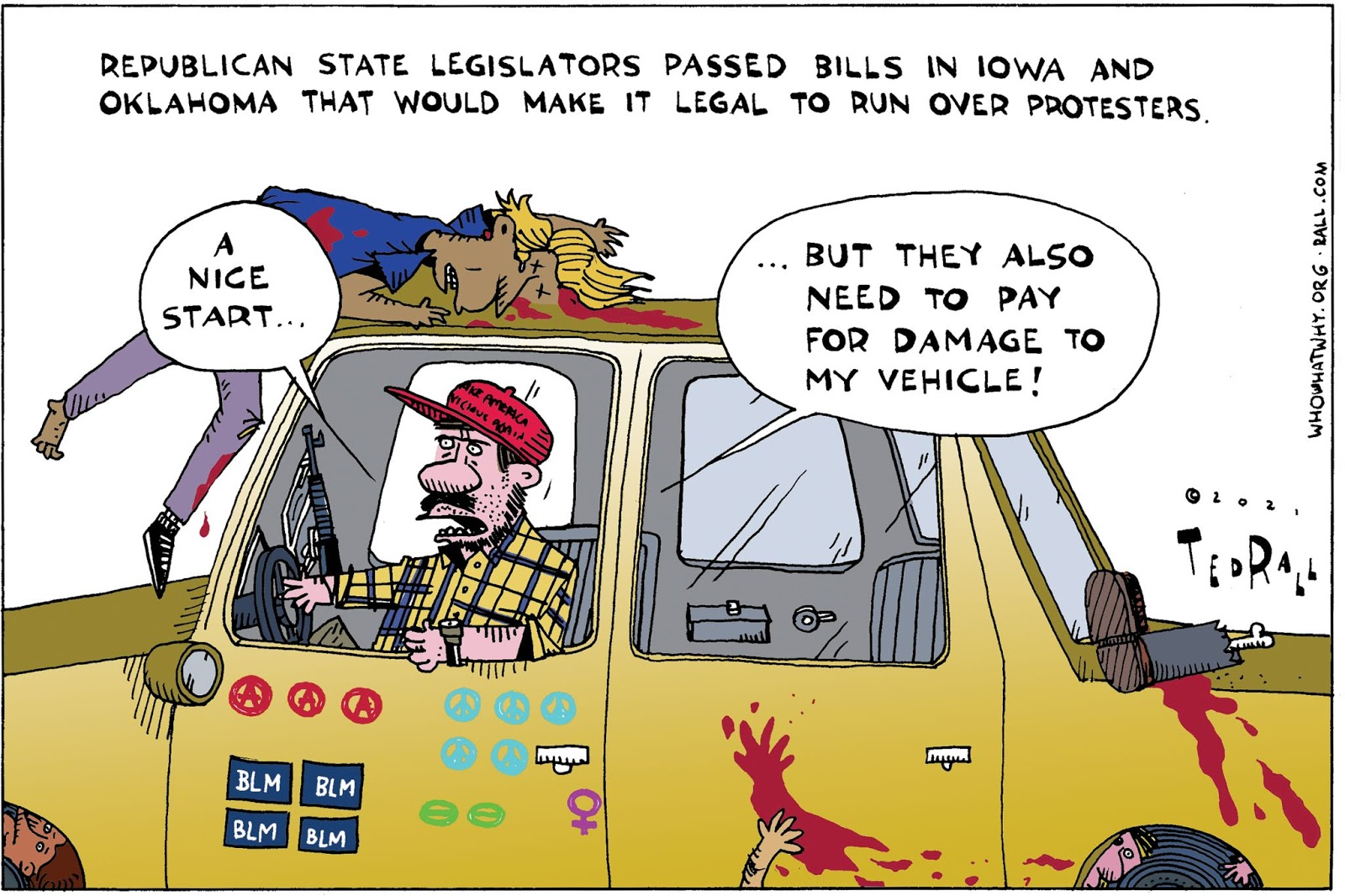 vehicular homicide, protesters