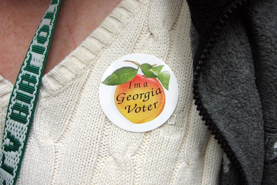 Georgia, I voted sticker