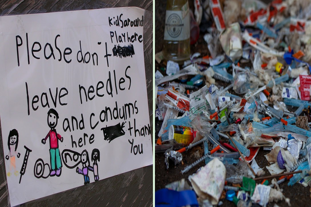Kids Playground Message For Drug Users