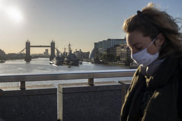 During the coronavirus pandemic in London on September 10, 2020.