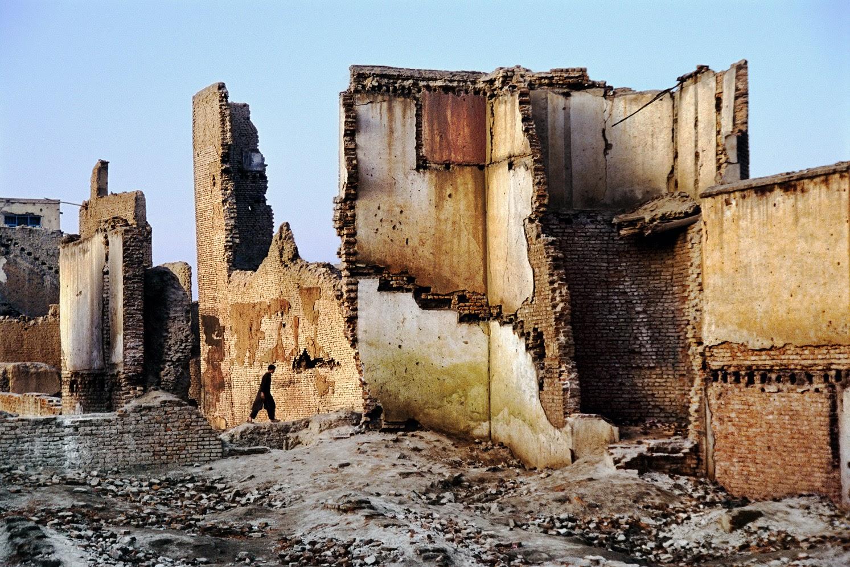Man walking, Kabul, 2003