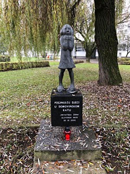 memorial, children killed, Croatia