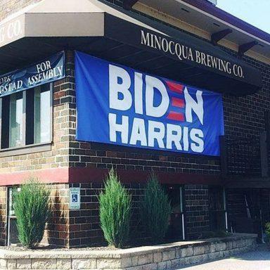Brewer Battles Biden Banner Ban