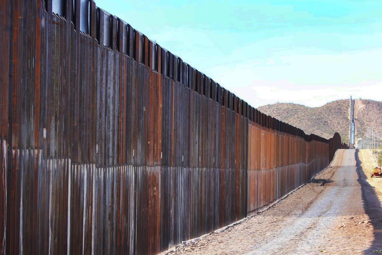 border wall, Organ Pipe Cactus National Monument