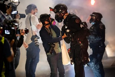Portland Police Officer Protest