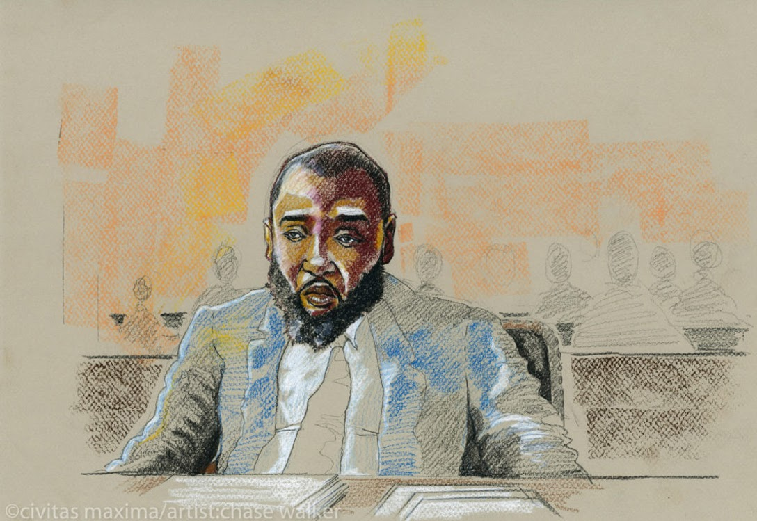 Portrait of Jabbateh in court