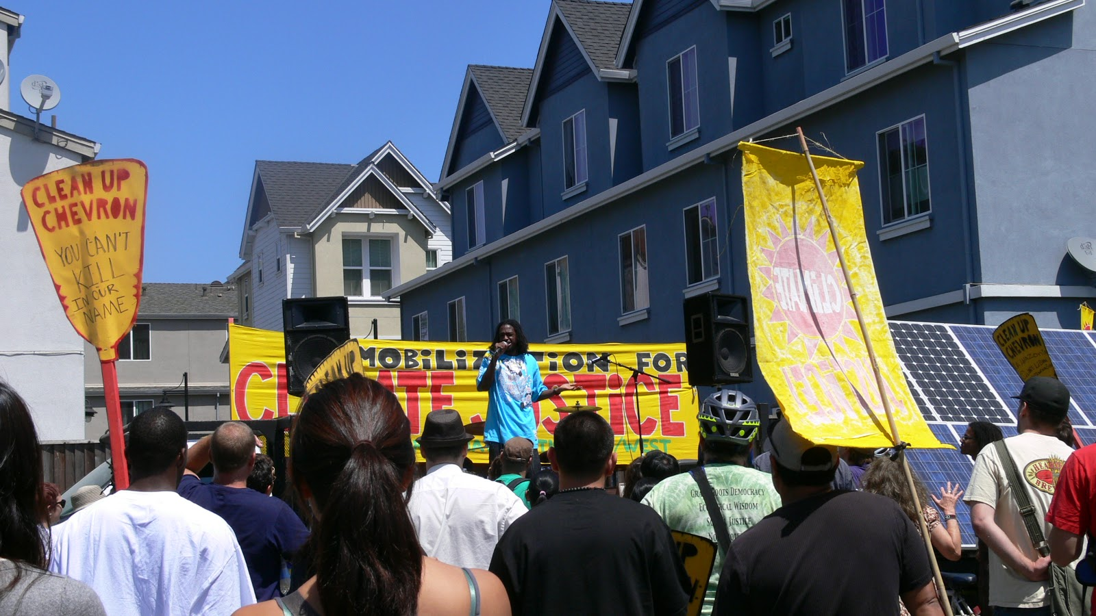 Protest Against Chevron Oil Refinery Expansion in Richmond
