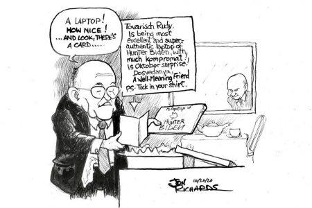 Jon Richards, Rudy Giuliani, laptop