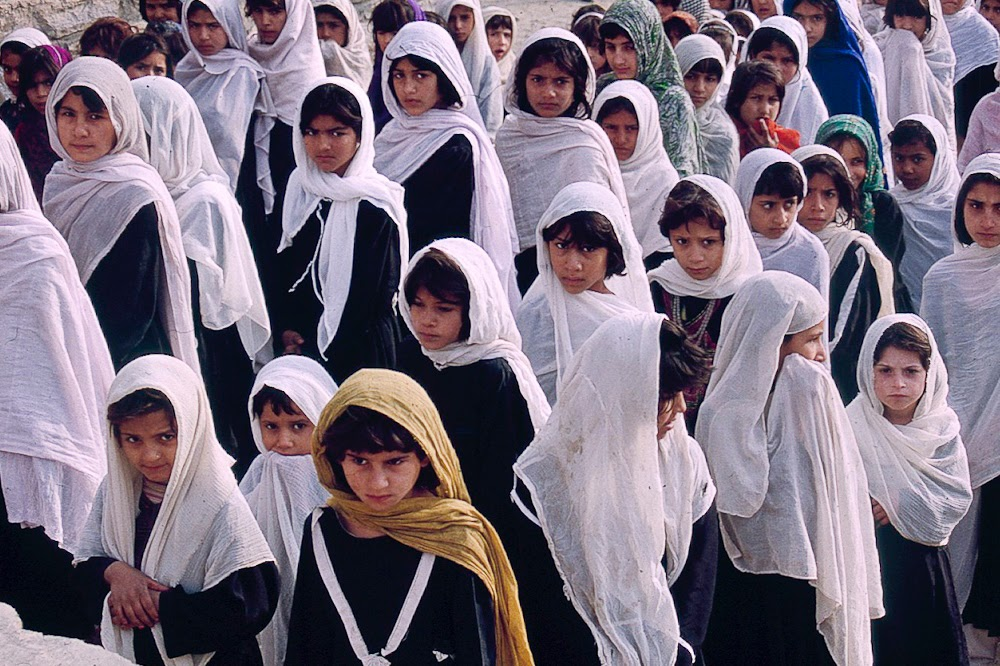 school girls, Kunar, Afghanistan
