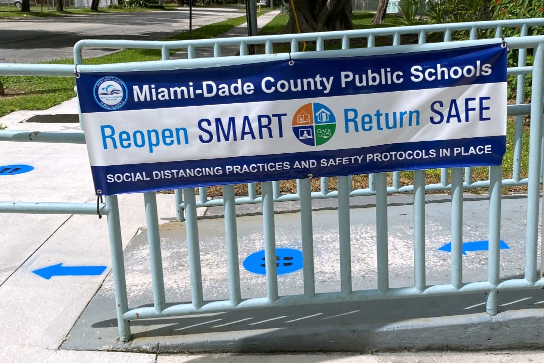 Signs on Elementary School in West Miami