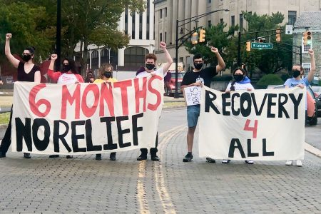 New Jersey, budget, immigrant workers protest