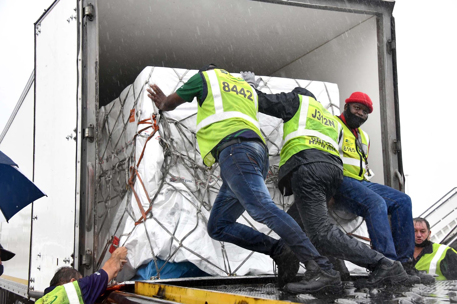 Delivery of COVID-19 Vaccine at International Airport in Johannesburg, South Africa