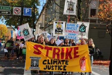 Sunrise Movement, Climate Finance, Protest